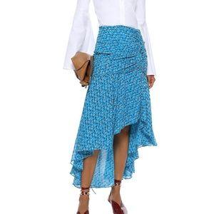 Veronica Beard Sevilla asymmetric floral skirt